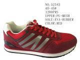 De rode Schoenen van de Tennisschoen van de Grootte van Verfhandelaars