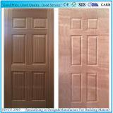 HDF en bois de la porte du panneau composite de la peau avec de cerisier/placage de bois de teck
