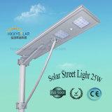 Poder superior elevado todo do lúmen em uma luz de rua solar 25W