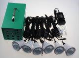 El sitio LED de 6 PCS enciende kits recargables solares de la iluminación de la batería de plomo