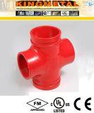 La norme ASTM A536 C Croix de la protection incendie des raccords cannelés