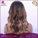Parrucca piena del merletto dei capelli indiani del Virgin dei capelli ondulati di colore di Ombre