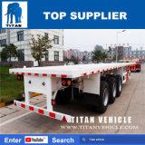 Titan 40 FT-Behälter-LKW-Flachbett-halb Schlussteil für Verkauf