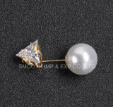 De Broche van de Parel van het Bergkristal van het Metaal van de Juwelen van de manier kleedt de Spelden van de Sjaal van de Decoratie