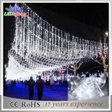 Luz ao ar livre da decoração do Natal decorativo comercial da corda do diodo emissor de luz