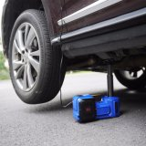 Автомобиль Jack голубого цвета многофункциональный электрический установленный с ключем удара и надутый пневматический насос
