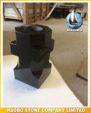 Shanxi Cruz em granito preto vaso de Design por grosso