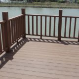 Paisagem Using o Decking composto resistente da madeira WPC do tempo