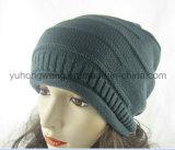 Chapeau/chapeau de Beanie Skull chaud de l'hiver de mode de Madame Acrylic Knitted