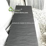 Desgarrada natural de pizarra negra Panel chimenea, chimenea hogar Baldosas y losas