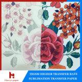 Papier de transfert de sublimation 55GSM à faible coût pour aucune solution de sublimation de revêtement dans l'industrie textile
