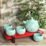 Insieme stabilito della teiera della porcellana di disegno della tazza di ceramica creativa della teiera