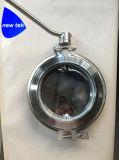 Válvulas de mariposa manuales inoxidables higiénicas del polvo IBC del acero 316L con la abrazadera