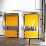 Portes à grande vitesse industrielles d'obturateur de roulement de PVC, roulement rapide de tissu en plastique automatique vers le haut de la porte (HF-1041)