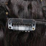 Desembaraçados 100% virgem Remy Cabelo humano brasileiro clipe preto natural na extensão de cabelo (TFH18)