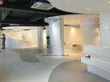 Partie supérieure du comptoir extérieure pleine en pierre acrylique blanche pure de cuisine