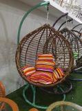 Presidenza d'attaccatura dell'oscillazione del cestino dell'uovo di prezzi del rattan esterno poco costoso del giardino