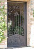 Porte latérale de porte simple de fer travaillé