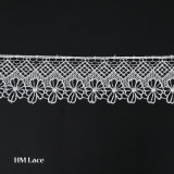 6.5cm 자수 레이스 Outstandig 디자인을%s 가진 트리밍에 의하여 수를 놓는 레이스 손질