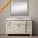 Шкаф тщеты ванной комнаты Fed-1698A Carrara белый мраморный верхний