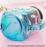 Heißer Verkaufs-neuer Entwurfs-Glasglas, Maurer-Cup, Maurer-Glas mit Kappe und Griff