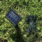 Luz de la secuencia de la Navidad de la energía solar para la decoración del día de fiesta