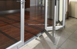 Portes de pliage en aluminium maximum de Bi de patio en verre Tempered de double de franchise