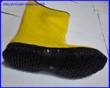 雨摩耗反酸の黄色いゴム製作業靴