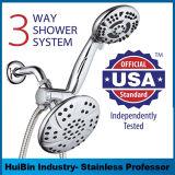 6-дюймовый высокого давления 3-х осадков душем сочетает в себе роскошные душевые комбинированный головки блока цилиндров и 6 - Установка ручной душ отдельно или вместе