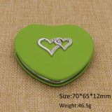 Suministro más barato de cuero corazón forma compacto espejo