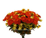 人工的でまたはPlastic/Silk Flower Chrysanthemumブッシュ(10539-33)