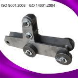 Chaîne d'ingénierie de rouleau de convoyeur de sel en acier et de fer pour l'industrie métallurgique