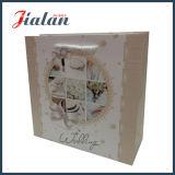 bolso de compras impreso aduana blanca de la boda de papel de la insignia de la tarjeta 210g