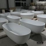 Bañera derecha libre de la superficie sólida negra moderna simple
