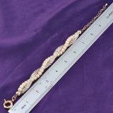 Armband van de Charme van de Parel Crysal van de Ketens van het Netwerk van de manier de Dubbele Gouden
