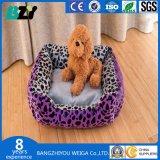 Leopard-Druck-Teddybär-Hundebett-Sofa-Haustier-Matratze