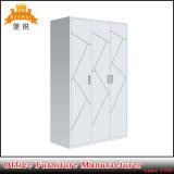 Fas-092 Acero Almirah Hot sales de metal de la puerta tres diseños de vestuario