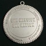 Medallas de metal plateado mate personalizado
