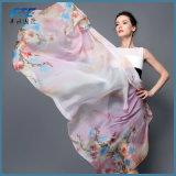 Donna della seta della sciarpa di Pashmina di modo della stampa del cinese