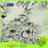 Lingerie (JNE2114)를 위한 탄력 있는 Printed Knitting Lace Net Fabric