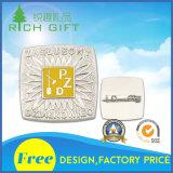 Preiswerter Preis passte Eisen-Decklack-Fertigkeit-Abzeichen mit dem überzogenen Silber an
