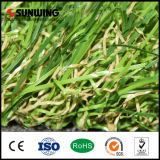 Césped residencial Barata de China de pasto alfombra de césped artificial