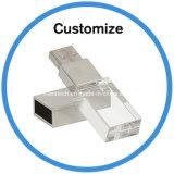 Настраиваемый логотип кристально чистый флэш-накопитель USB