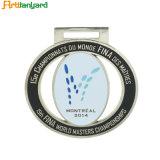 Medaglia d'argento del metallo all'ingrosso con il nastro