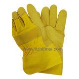 De hoogste Handschoen van het Werk van de Veiligheid van de Handschoenen van de Zweep van Rigger van de Handschoenen van het Leer van de Korrel