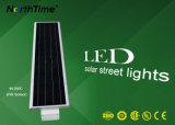 60W lampe actionnée solaire de l'éclairage externe DEL avec la batterie au lithium
