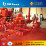 Pompe de lutte contre l'incendie centrifuge entraînée par moteur et actionnée par moteur électrique diesel
