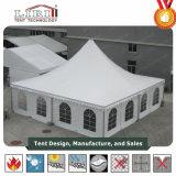 barracas brancas do Pagoda do casamento de 10X10m com tela do PVC para 100 casamentos dos povos