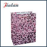 Bolsa de papel laminada mate del regalo del portador de las compras del papel de arte del leopardo