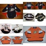 Personalizzare pullover arancioni bianchi del hokey di ghiaccio del nero dei capretti le anatre 31 Mcelhinney 36 di Gibson di formato 31 del taglio di Goalit delle anatre di Anaheim delle donne sporche del Mens